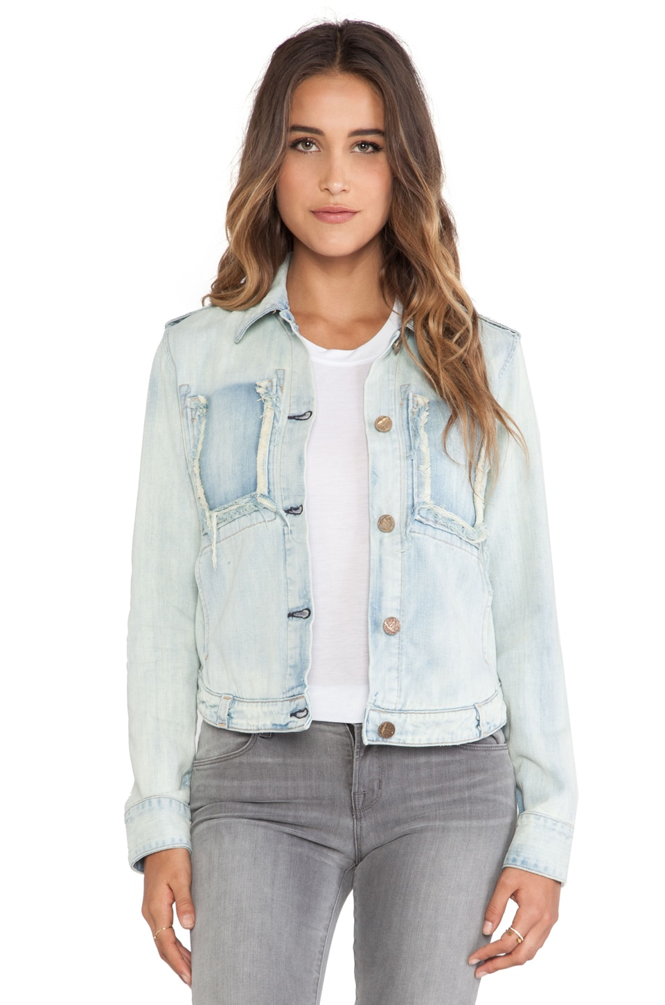 MCGUIRE Fray Pocket Jean Jacket in Glasslands