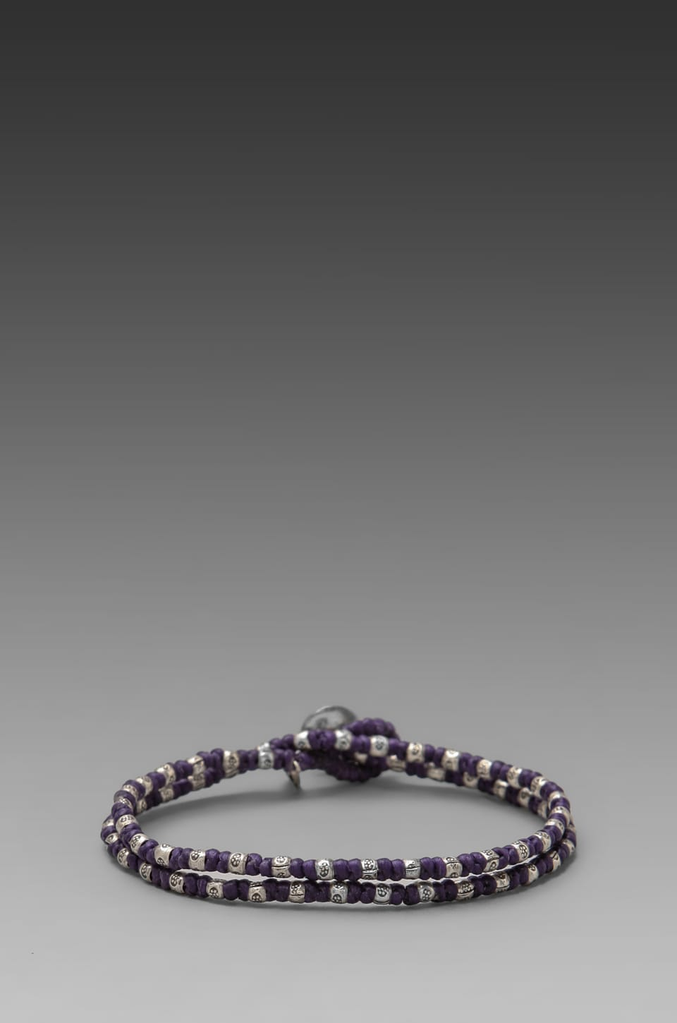 M.Cohen 2 Wrap Sterling Sliver Bracelet in Purple