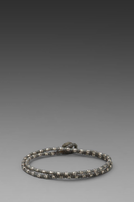 M.Cohen 2 Wrap Sterling Sliver Bracelet in Grey