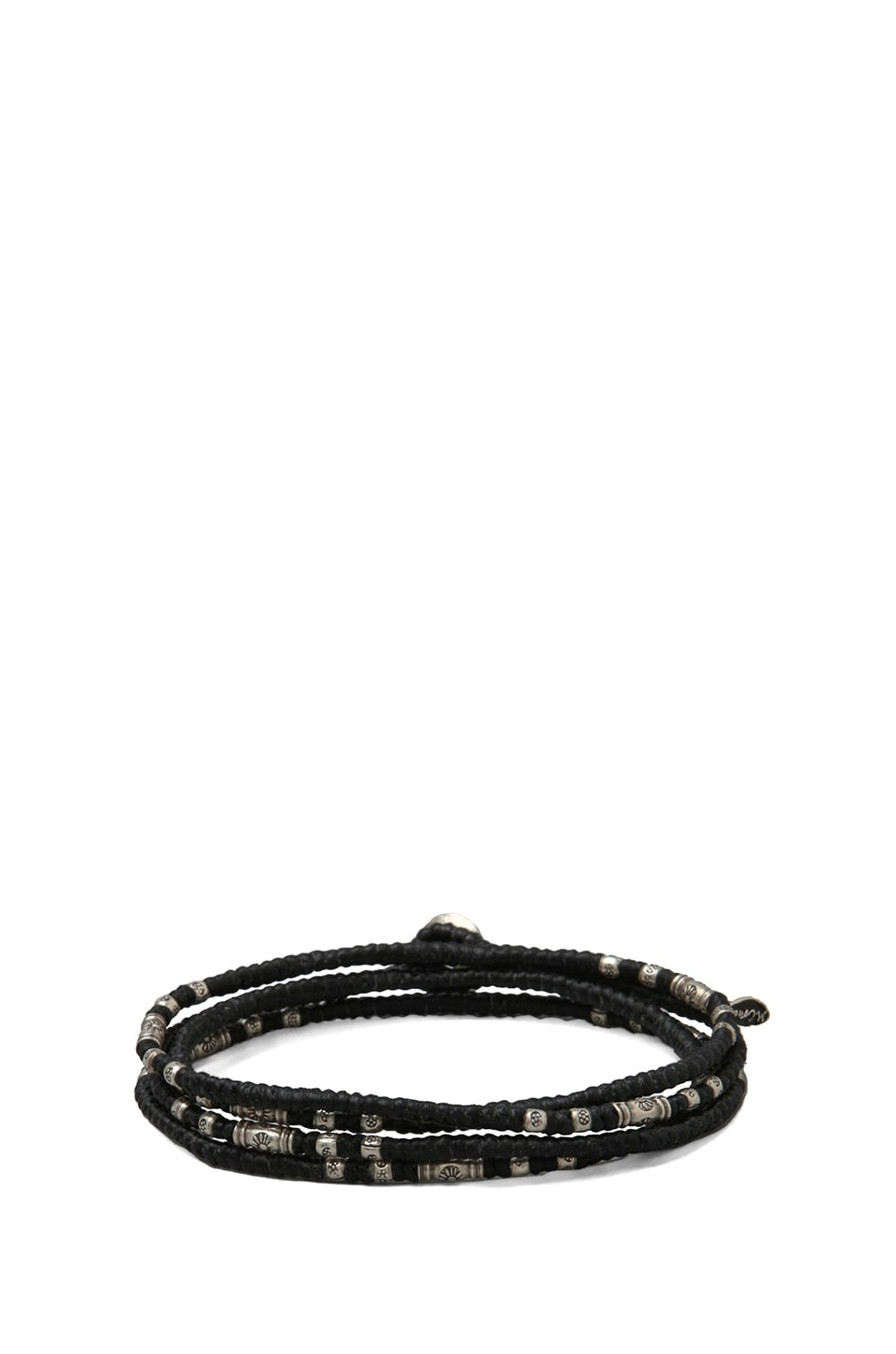M.Cohen 4 Wrap Knotted Sterling Sliver Bracelet in Black