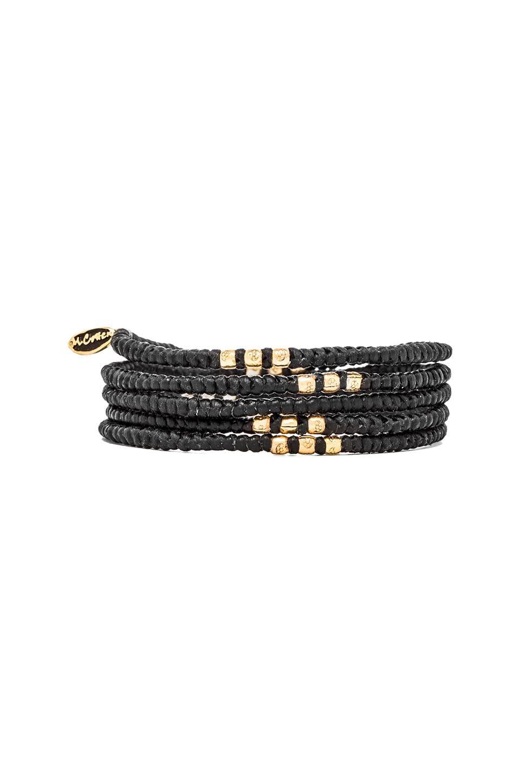 M.Cohen 4 Layer Wrap Bracelet in Gold/Black