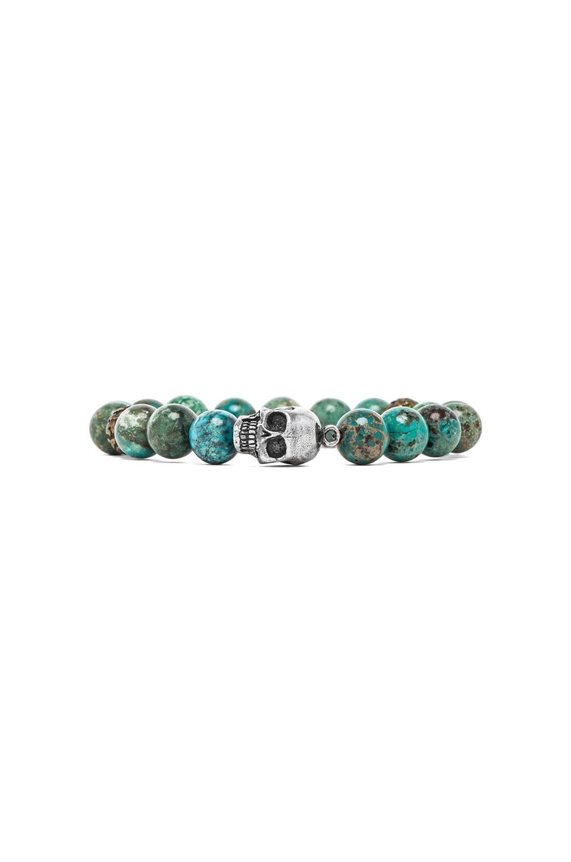 M.Cohen Skull Bead Bracelet in Turquoise