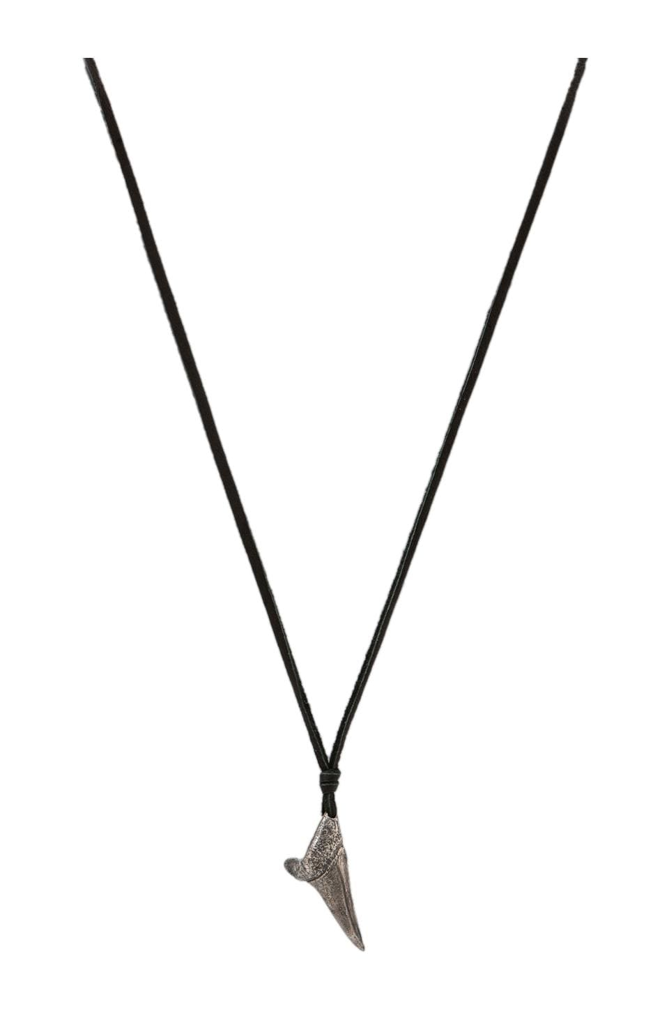 M.Cohen Shark Tooth Necklace in Black