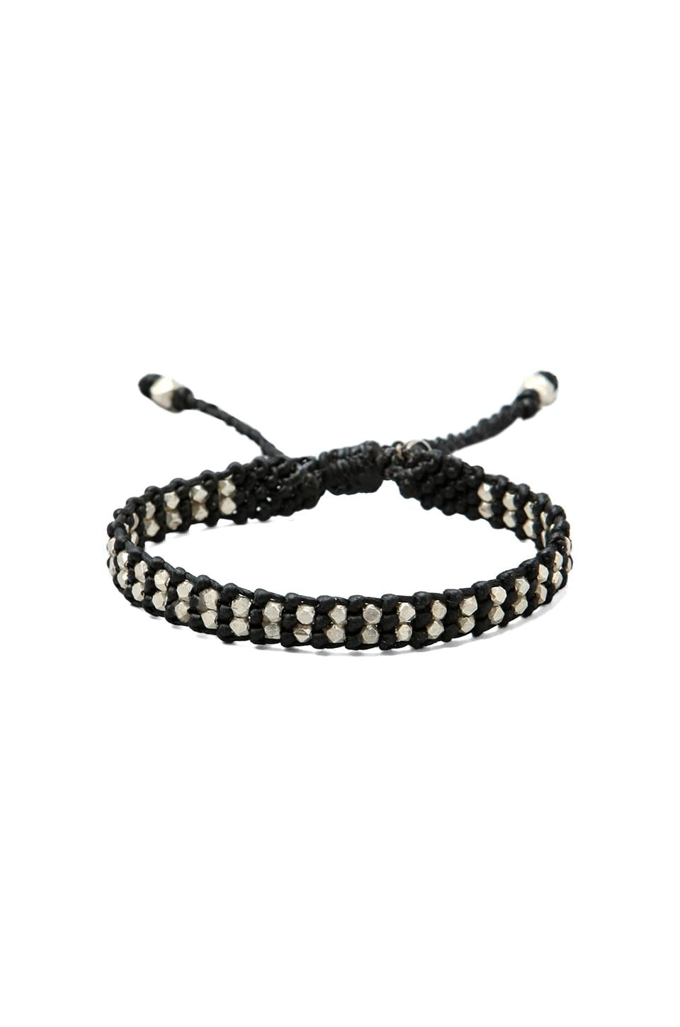 M.Cohen Double Faceted Bead Bead Bracelet in Black