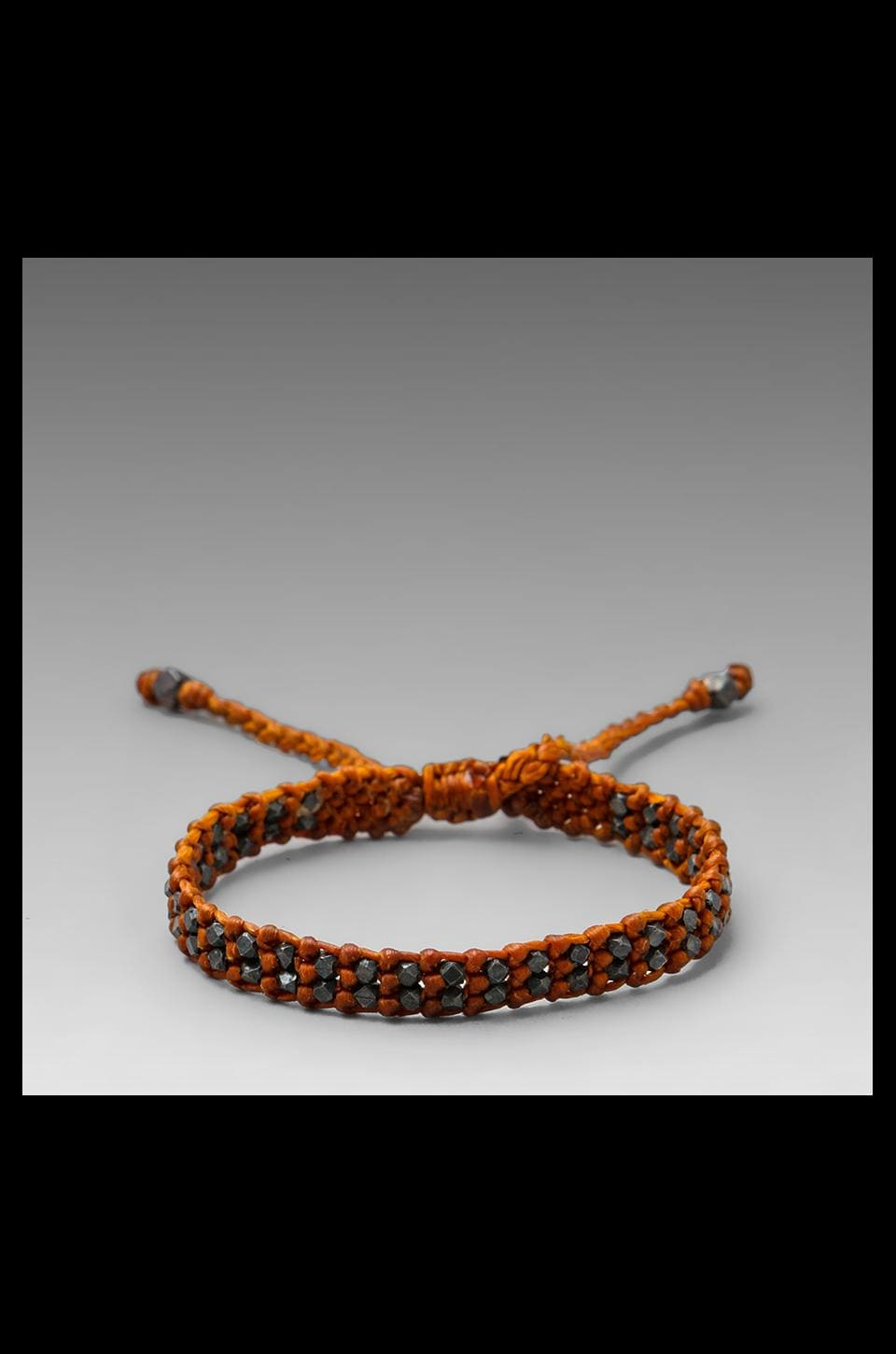 M.Cohen Oxidized Bead Bracelet in Rust