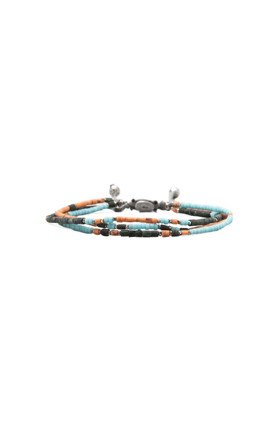 M.Cohen 3-Layer Bracelet/Coral/Turquoise in Jade