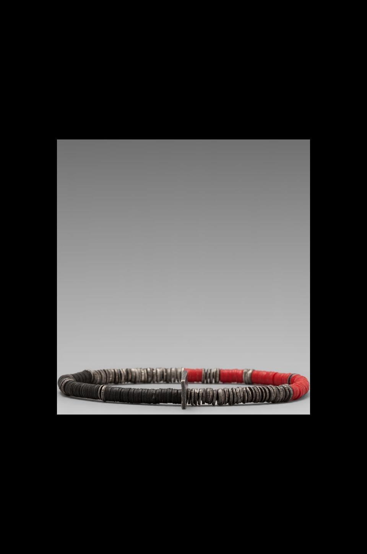 M.Cohen African Vinyl Oxi Disc Bracelet in Red