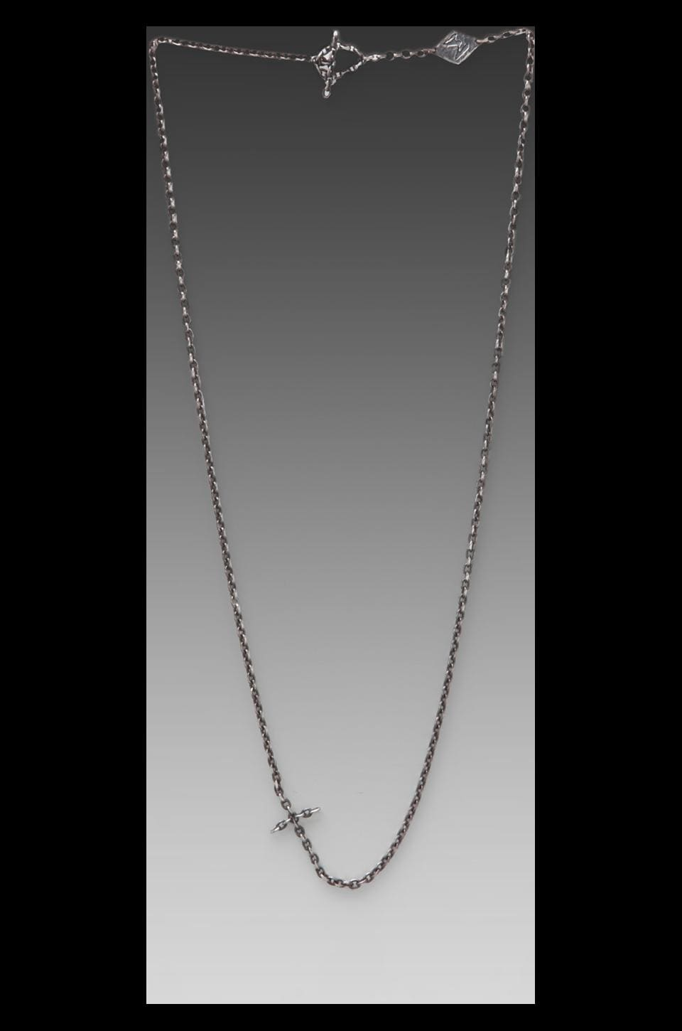 M.Cohen Chain Linked Cross Necklace in Silver