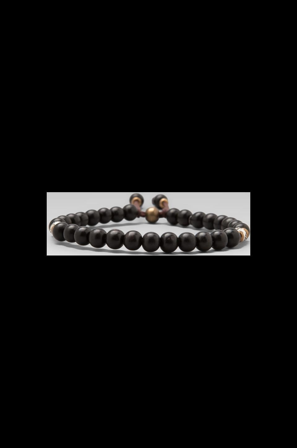 M.Cohen African Glass Bead Bracelet in Black