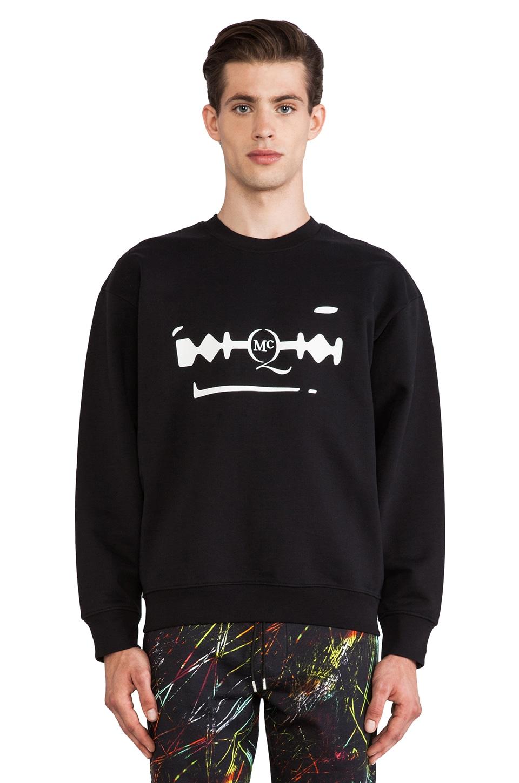 McQ Alexander McQueen Oversized Sweatshirt in Darkest Black