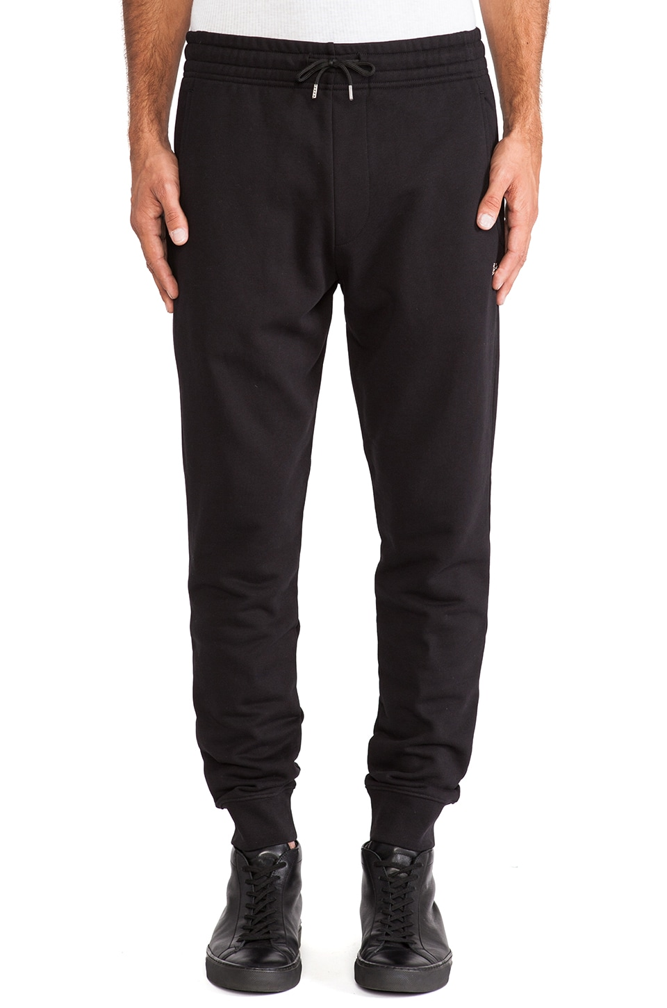 McQ Alexander McQueen Jogging Sweatpants in Darkest Black