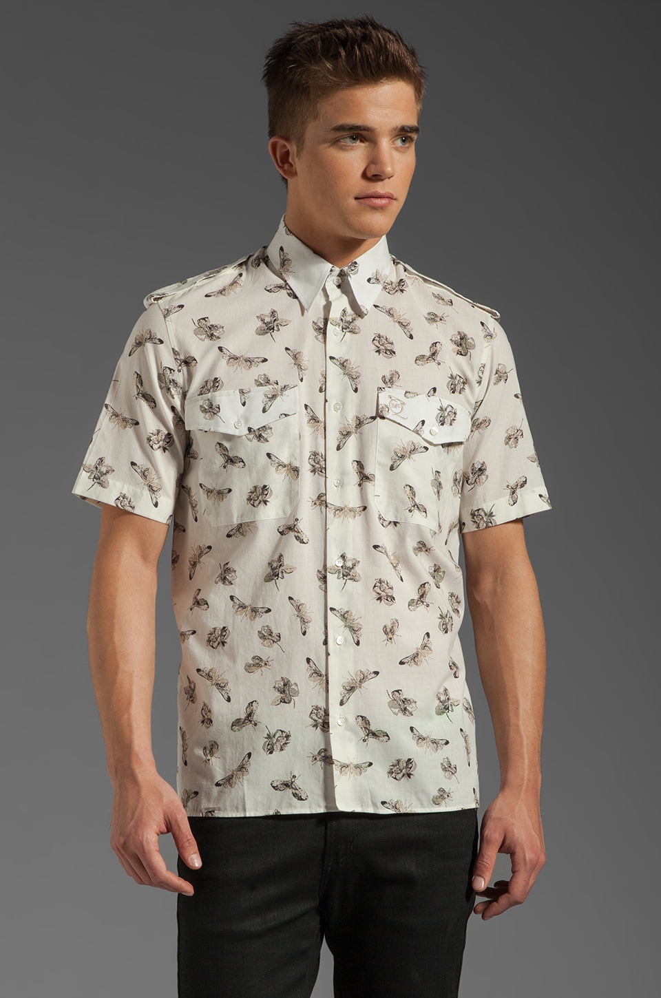 McQ Alexander McQueen S/S Printed Button Up in White