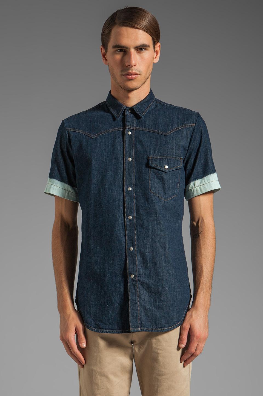 McQ Alexander McQueen S/S Denim Shirt in Bleached Indigo