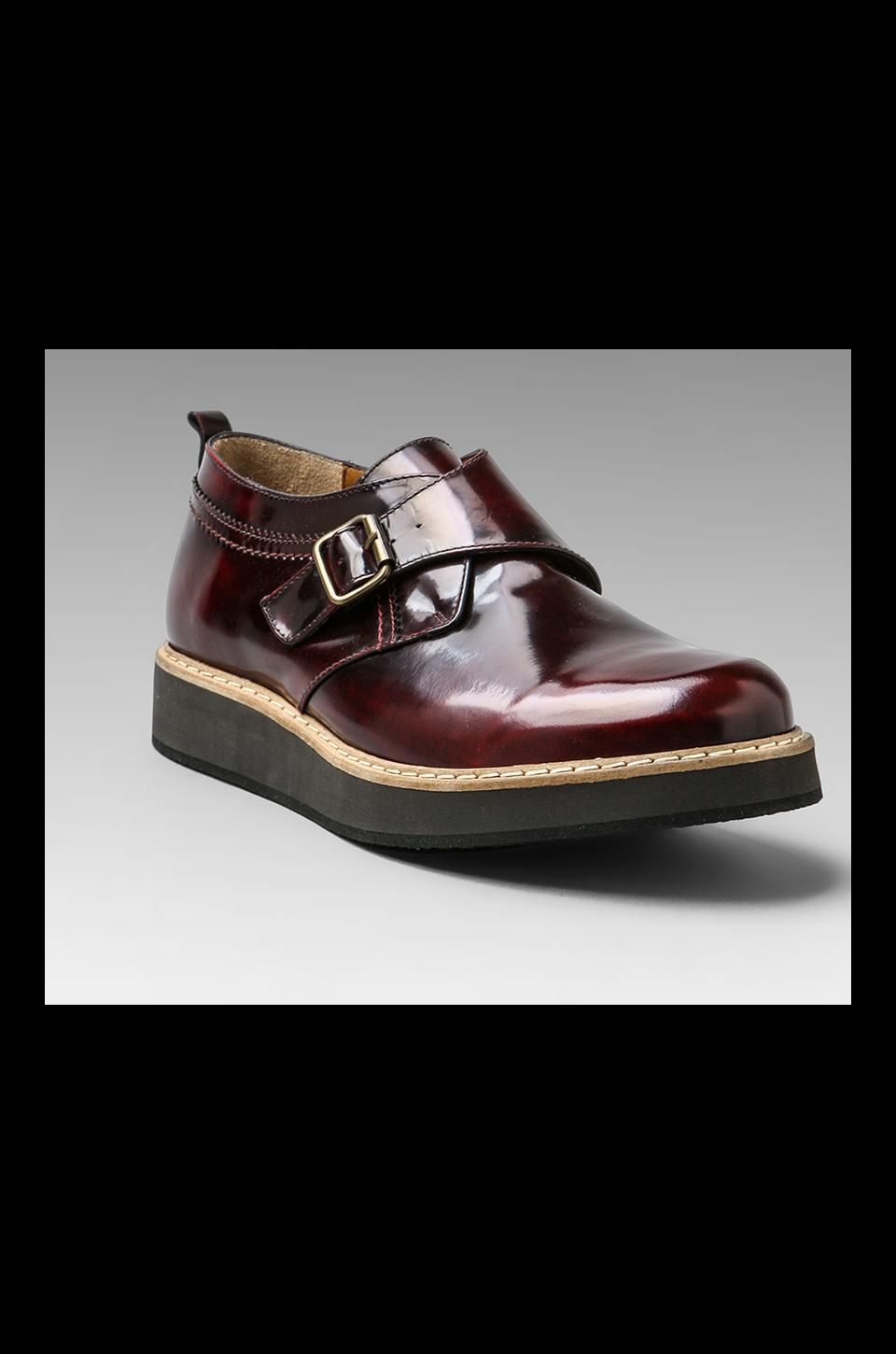 McQ Alexander McQueen Monk Short Boot in Oxblood