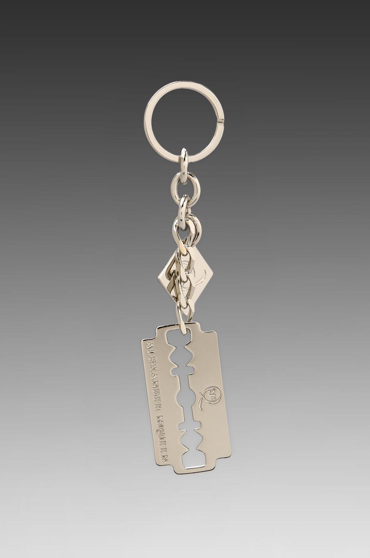 McQ Alexander McQueen Razor Blade Key Ring in Silver