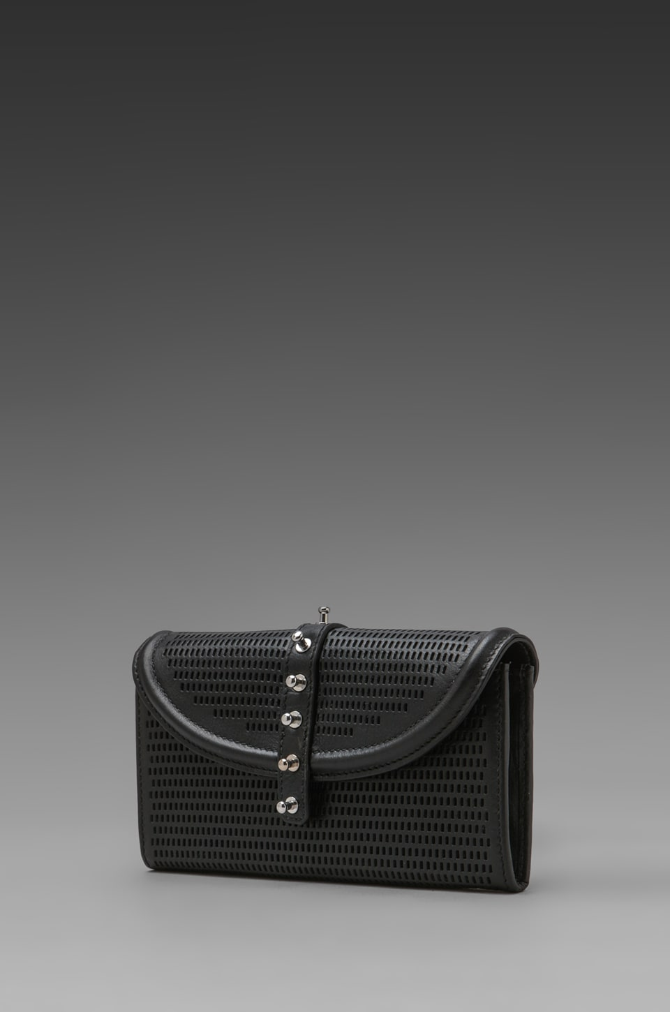 McQ Alexander McQueen Collar Stud Wallet in Jet Black
