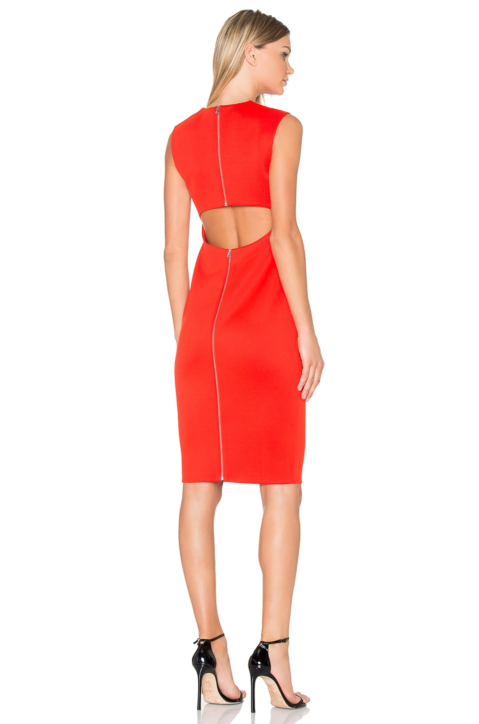 Cut Out Back Midi Dress by McQ Alexander McQueen