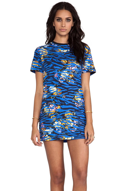 McQ Alexander McQueen T-Shirt Dress in Cobalt Blue
