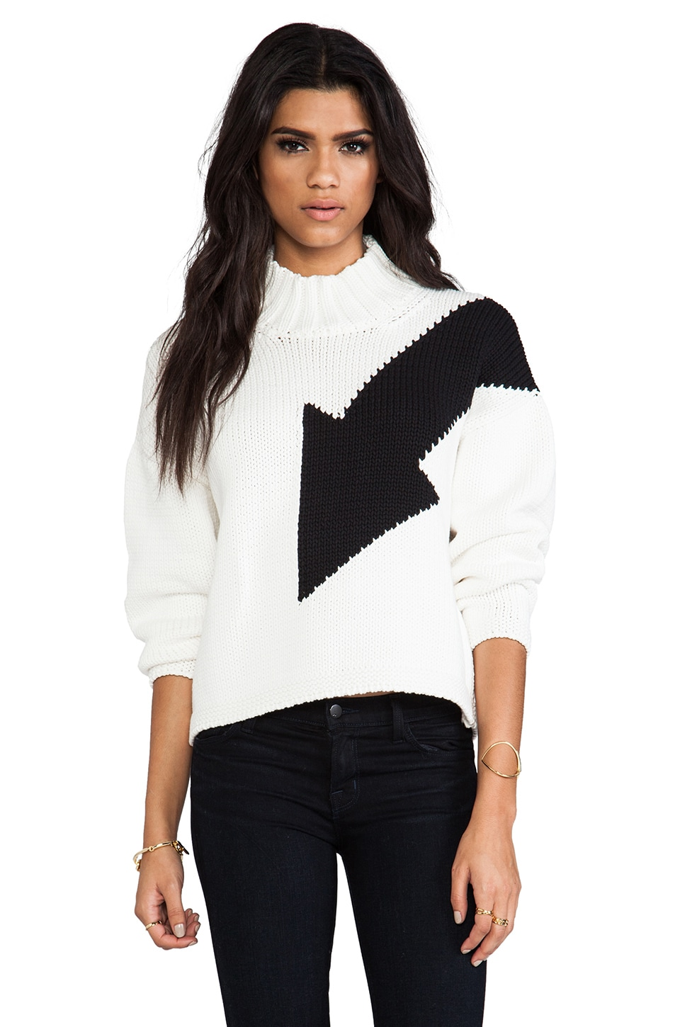 McQ Alexander McQueen Big Arrow Sweater in Lily White