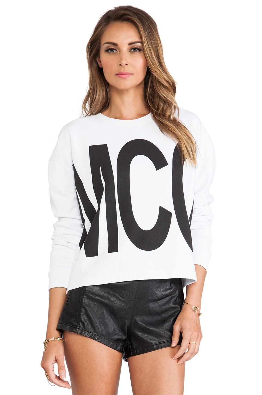 McQ Alexander McQueen Ribless Sweatshirt in White