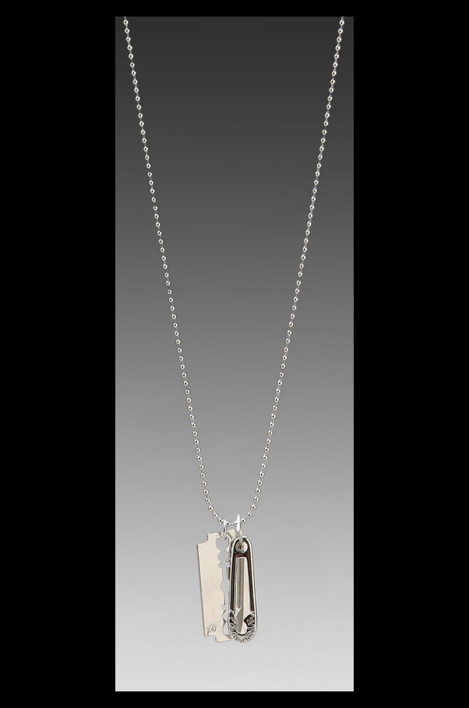 McQ Alexander McQueen Razor Pendant Necklace in Silver