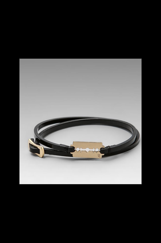 McQ Alexander McQueen Mini Razor Blade Bracelet in Black