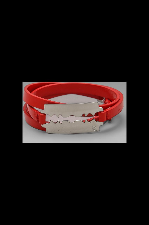 McQ Alexander McQueen Razor Wrap Bracelet in Cadmium