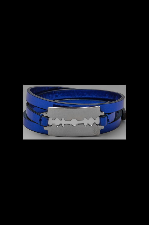 McQ Alexander McQueen Razor Wrap Bracelet in Cobalt