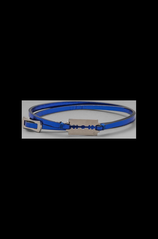 McQ Alexander McQueen Mini Razor Blade Bracelet in Cobalt