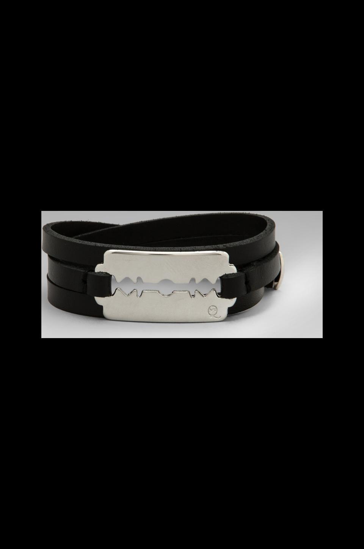 McQ Alexander McQueen Razor Triple Wrap Bracelet in Black