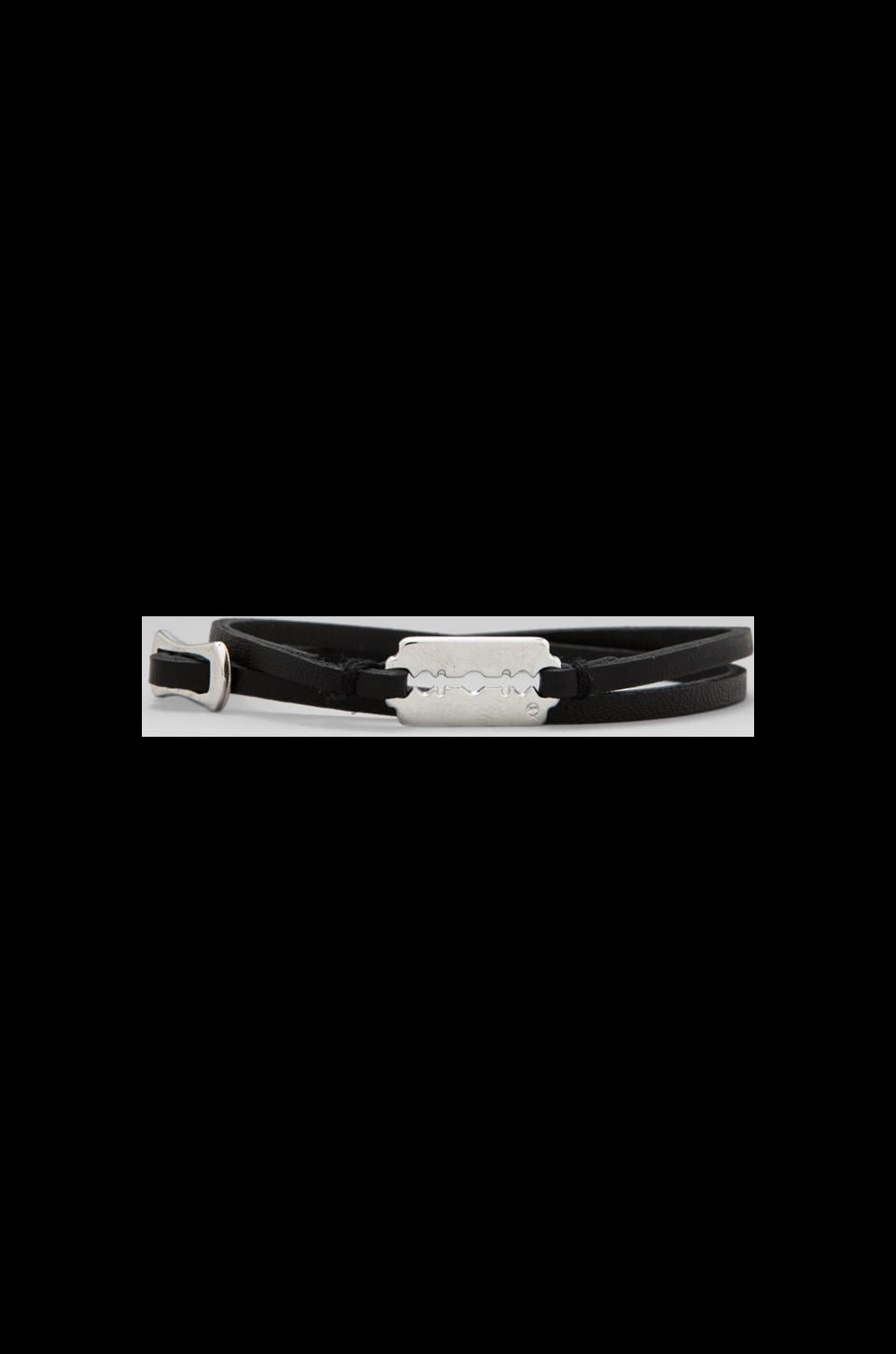 McQ Alexander McQueen Mini Razor Double Wrap Bracelet in Black