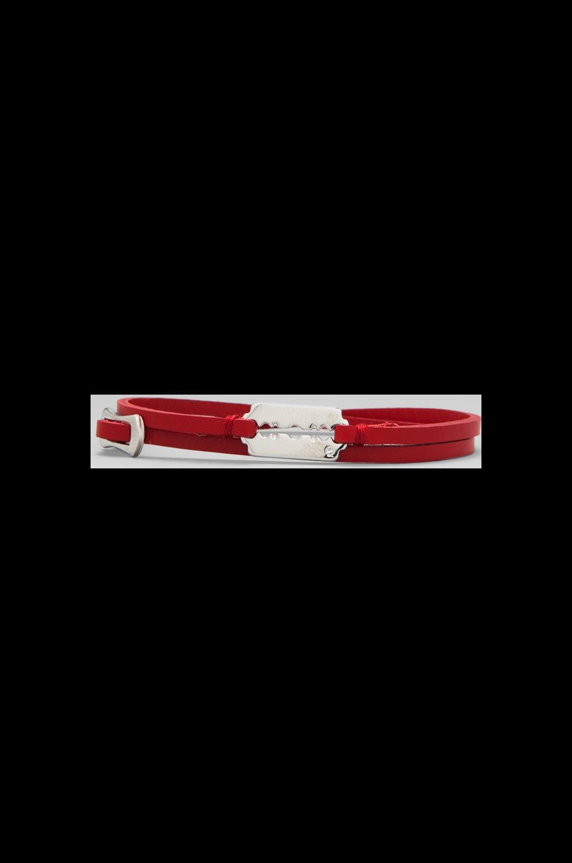 McQ Alexander McQueen Mini Razor Double Wrap Bracelet in Red