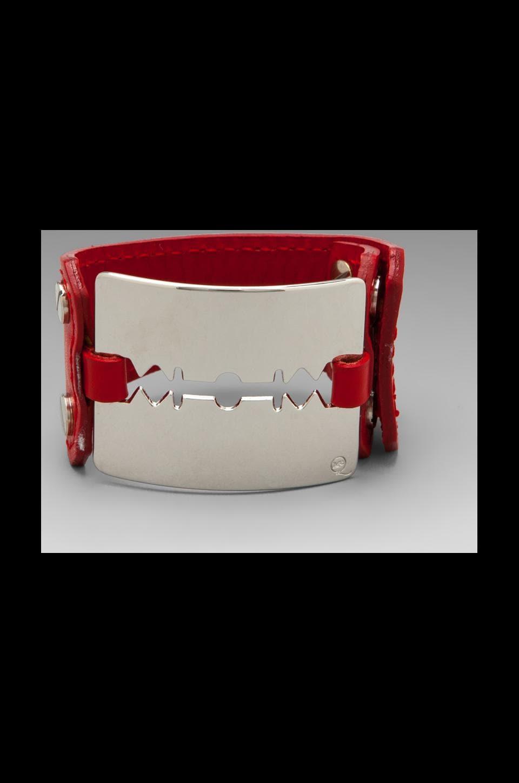 McQ Alexander McQueen Razor Cuff in Red