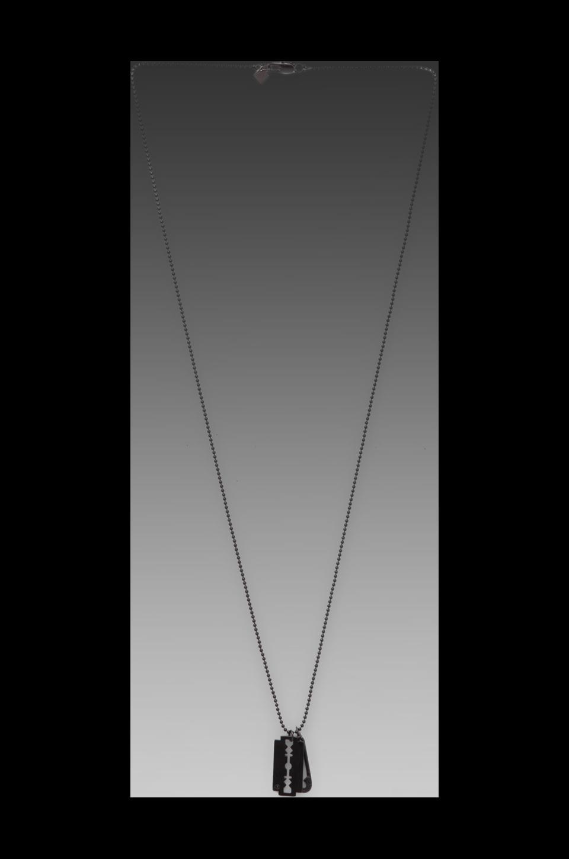 McQ Alexander McQueen Razor Pendant in Matt Gun Metal