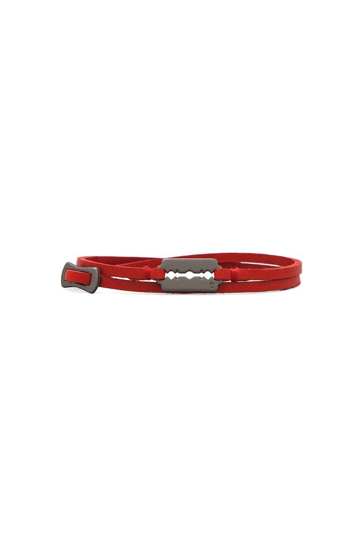 McQ Alexander McQueen Mini Razor Blade Bracelet in Red