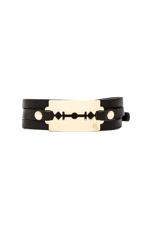 McQ Alexander McQueen Triple Wrap Razor Bracelet in Black