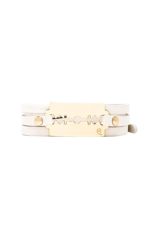 McQ Alexander McQueen Triple Wrap Razor Bracelet in Lily White