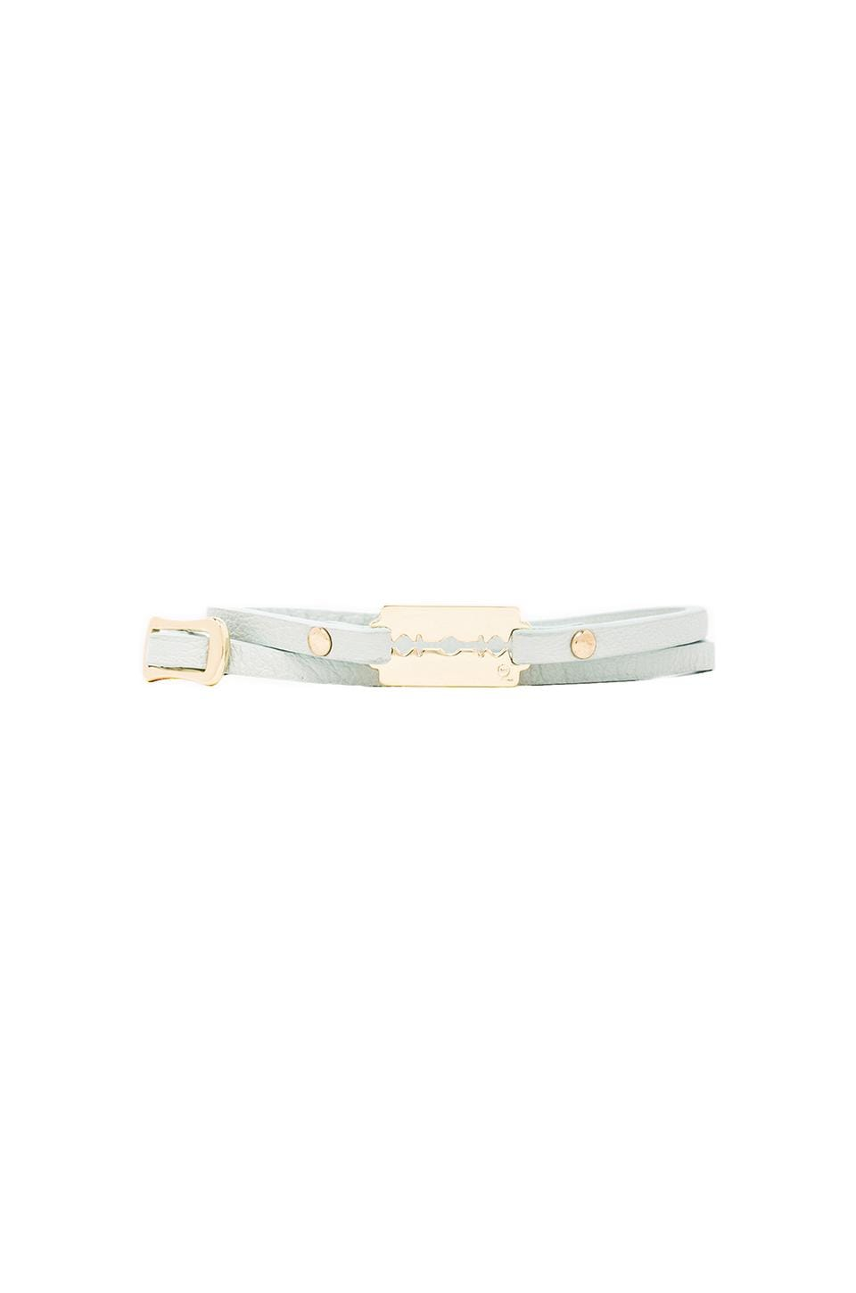 McQ Alexander McQueen Mini Razor Bracelet in Ice Mint
