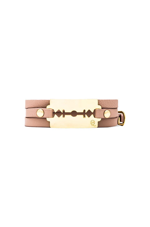 McQ Alexander McQueen Razor Triple Bracelet in Vanilla Rose