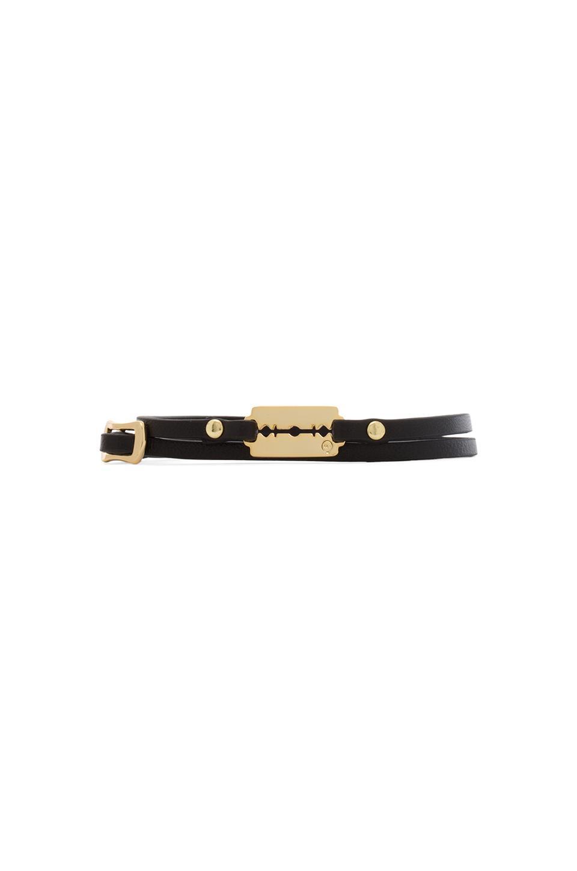 McQ Alexander McQueen Razor Mini Wrap Bracelet in Black