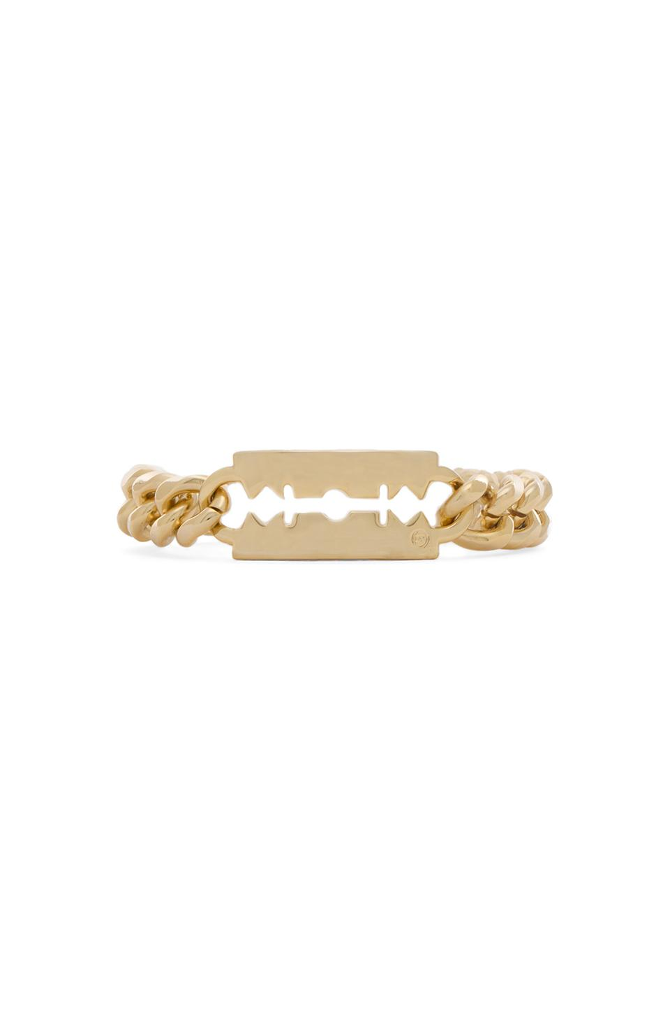 McQ Alexander McQueen Chunchy Chain Bracelet in Light Shiny Gold