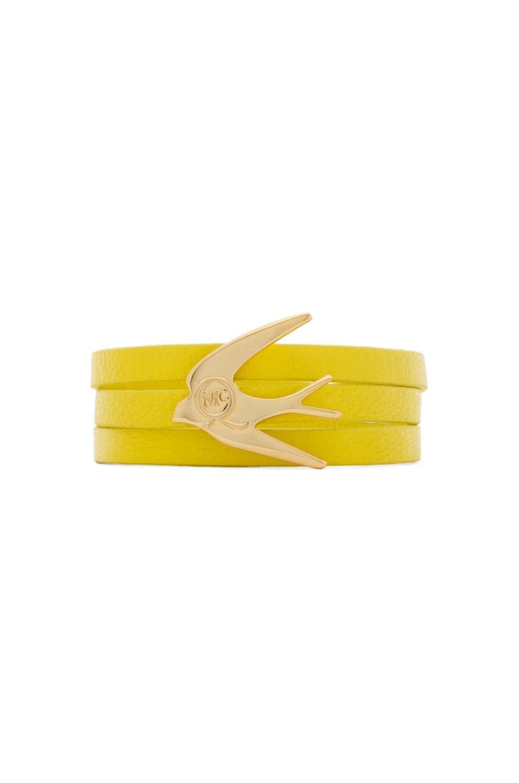 McQ Alexander McQueen Swallow Triple Wrap Bracelet in Line