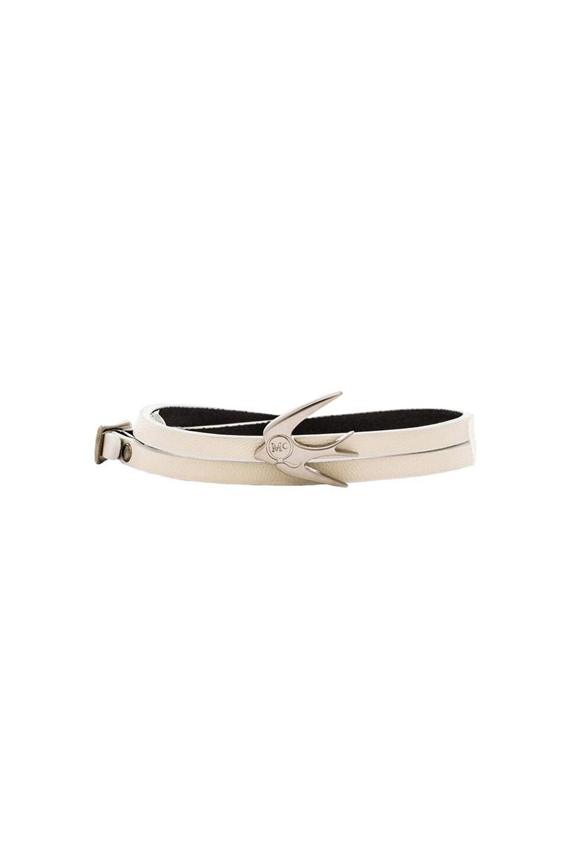 McQ Alexander McQueen Swallow Mini Wrap Bracelet in Ivory