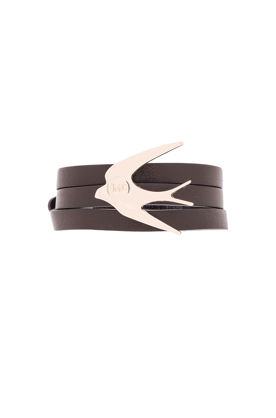 McQ Alexander McQueen Swallow Triple Wrap Bracelet in Black