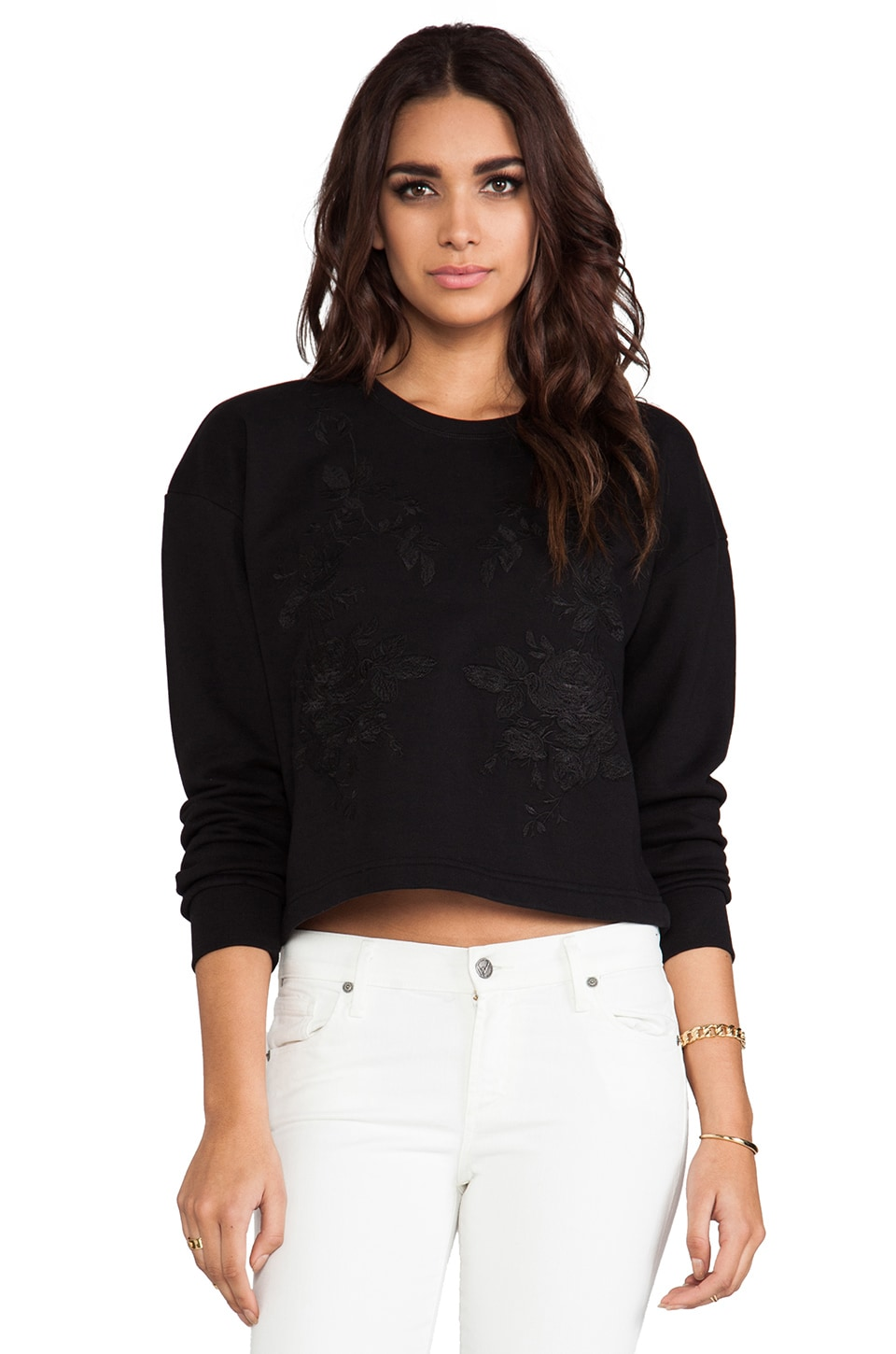McQ Alexander McQueen Embroidered Sweatshirt in Black