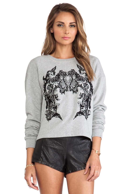 McQ Alexander McQueen Ribless Sweatshirt in Grey Melange