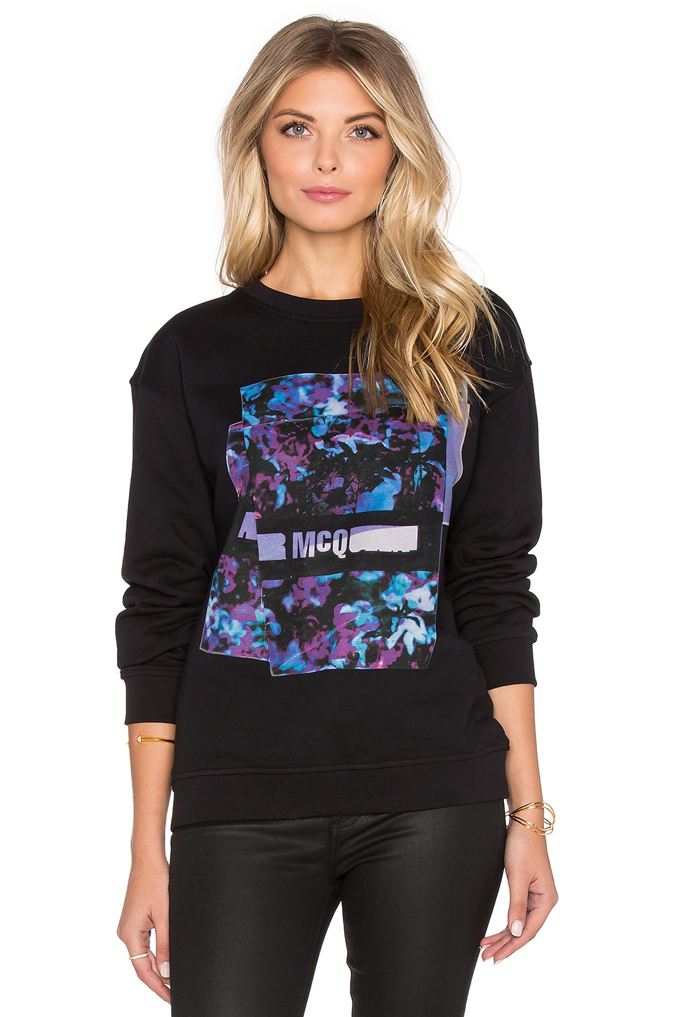 McQ Alexander McQueen Classic Sweatshirt in Darkest Black