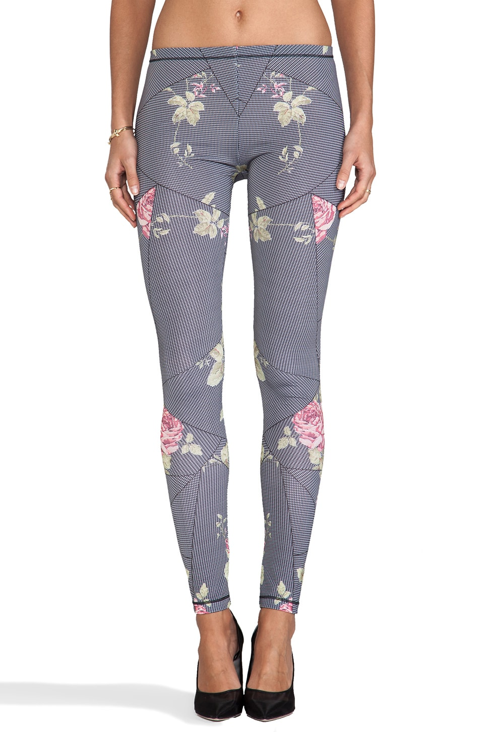 McQ Alexander McQueen Printed Legging in Antique Rose