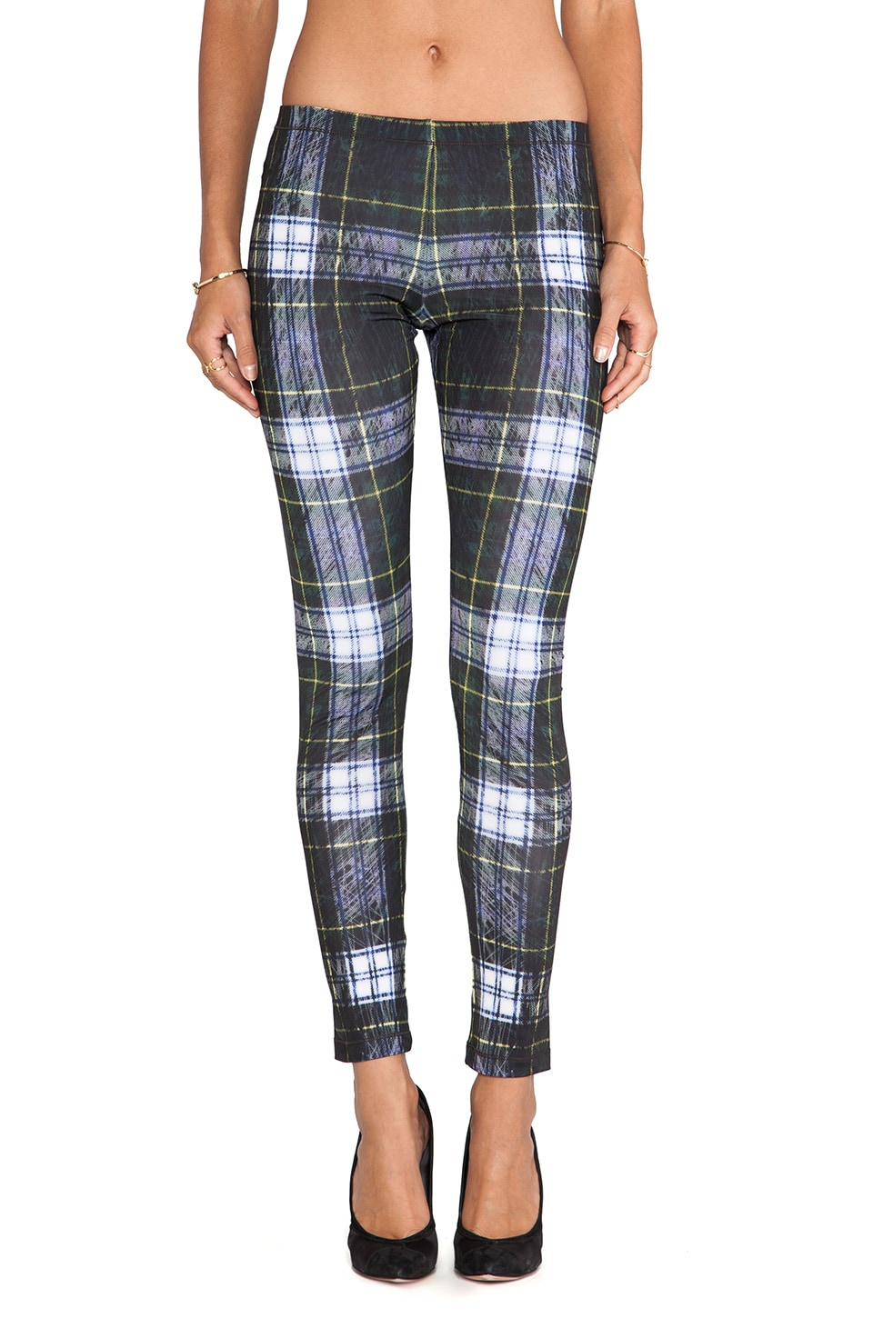 McQ Alexander McQueen Printed Legging in Racing Green