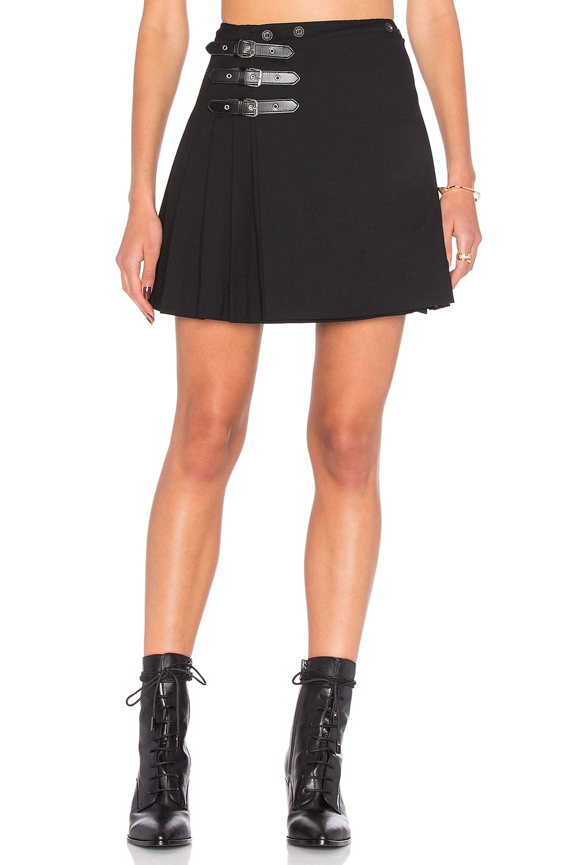 Buckle Pleat Skirt by McQ Alexander McQueen